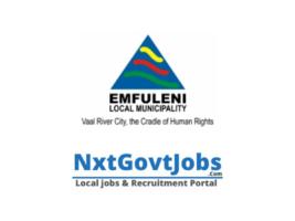 Emfuleni Local Municipality vacancies 2021 | Sedibeng Government jobs | Gauteng Municipality vacancies