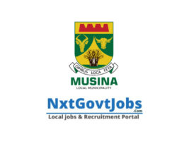 Musina Local Municipality vacancies 2021 | Vhembe Government jobs | Limpopo Municipality vacancies