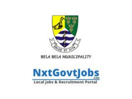 Bela-Bela Local Municipality vacancies 2021   Waterberg Government jobs   Limpopo Municipality vacancies