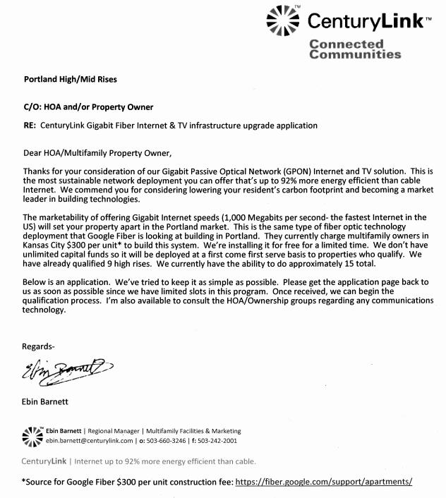 CenturyLink Seeks Apartment Buildings for Gigabit in Portland  community broadband networks