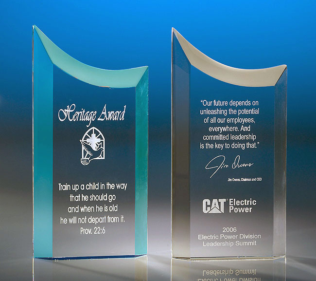 Free Standing Concave Acrylic Award