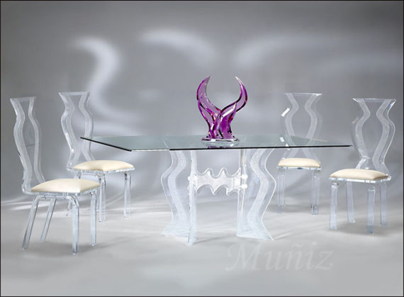 Acrylic Dining Sets – Acrylic Furniture, Tables, Chairs – Hand Made ...