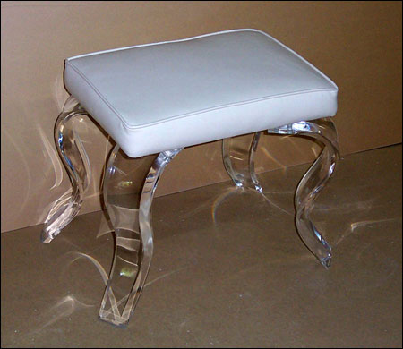 Rectangular Vanity Stools – Acrylic Furniture, Tables, Chairs – Hand ...