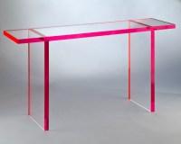 Acrylic Console Tables  Muniz  The Fine Line of Acrylic ...