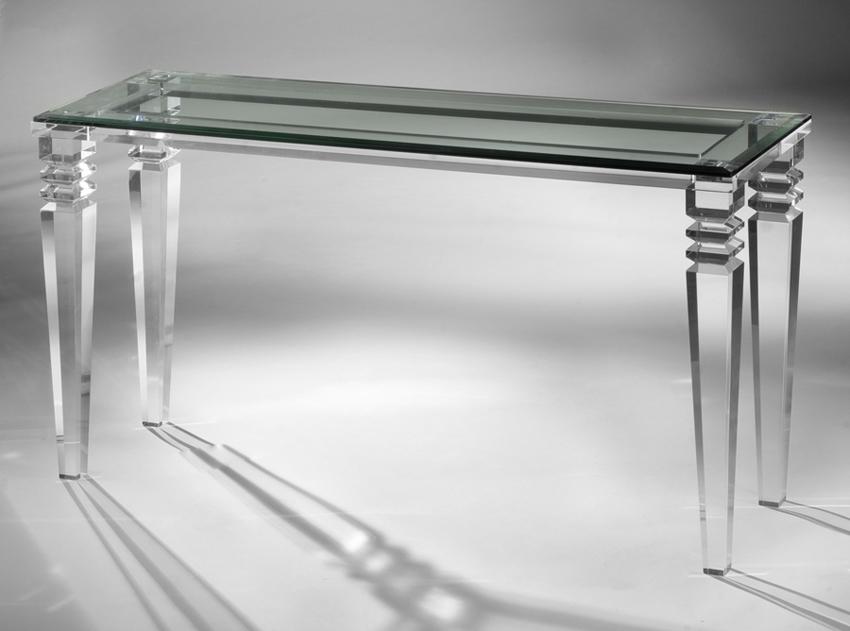 Tremendous Venice Acrylic Console Table Muniz Plastics Spiritservingveterans Wood Chair Design Ideas Spiritservingveteransorg