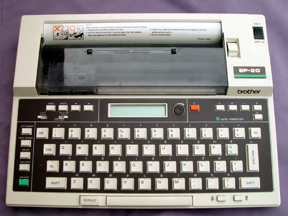 Brother EP20 DotMatrix Portable Typewriter  Welcome to