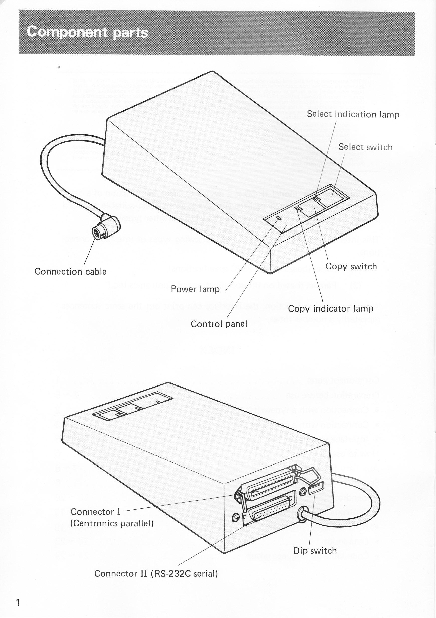 Brother IF-50 Computer to Typewriter Interface User manual