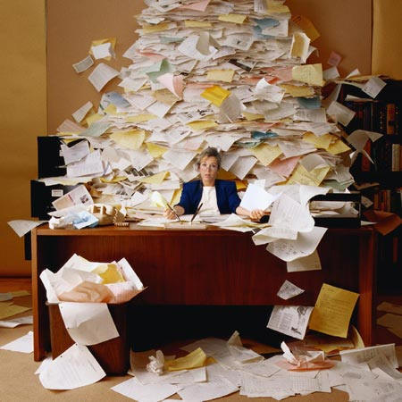 Too much paper!