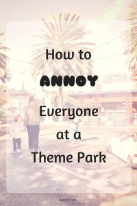 Humorous examples of obnoxious behaviors at theme parks, zoos, museums and carnivals.