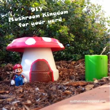 Super Mario Garden Art