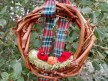Bird Family Grapevine Wreath Christmas Ornament