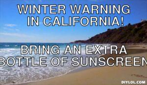 funny California Winter memes