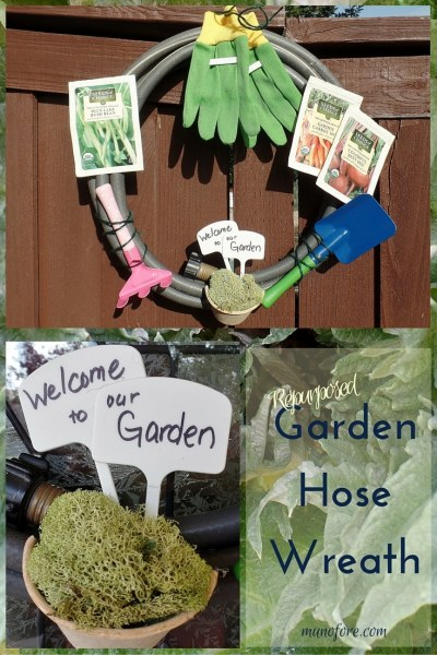 Repurposed Garden Hose Wreath