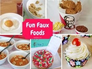 Fun Faux Foods for April Fools Day or any time. April Fools Day food pranks. Plus linky party for all things fun, funny, happy and hopeful.