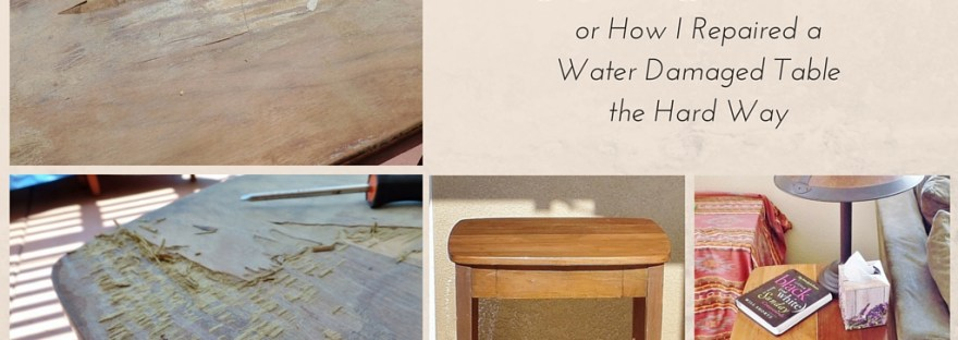 Frugal Fix: Typing Table - fixing a water damaged antique typing table the hard way. DIY Fail DIY Disaster DIY Don't
