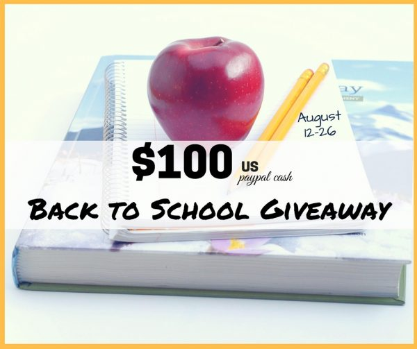 Back to School Giveaway - $100 paypal cash giveaway