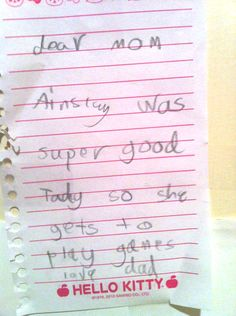 Nine Funny Letters Forged by Kids - parenting humor, teaching humor