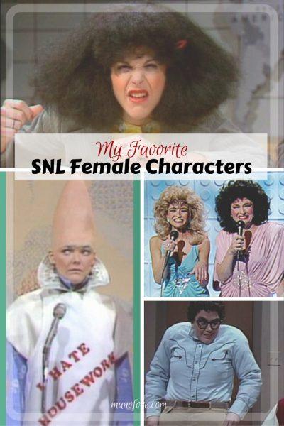 Favorite Female SNL Characters - Old school Saturday Night Live Characters, Rosanne Roseannadana, Pryaat Conehead, The Sweeney Sisters