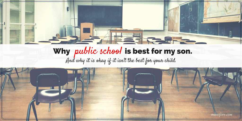 Public school might not be the best option for every student in the United States, but it is the right one for our son. Parenting and education.