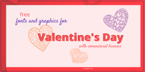free valentines font graphic