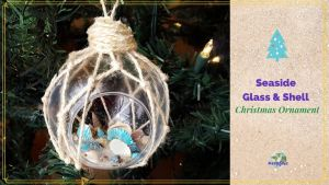 Seashell and Glass Christmas ornament