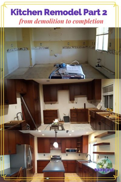 pictures of the stages of a kitchen remodel