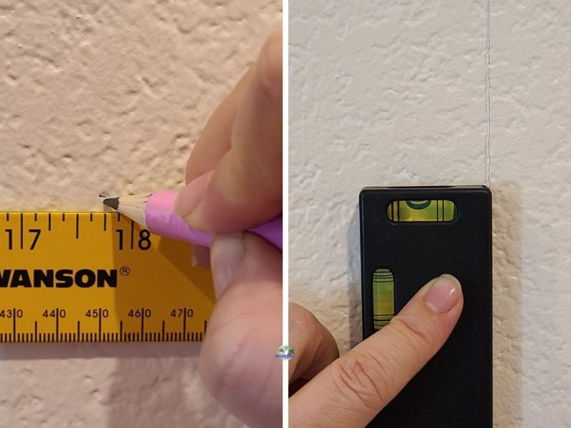 measuring and levelling a line