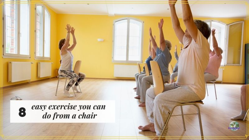 people sitting in chairs exercising