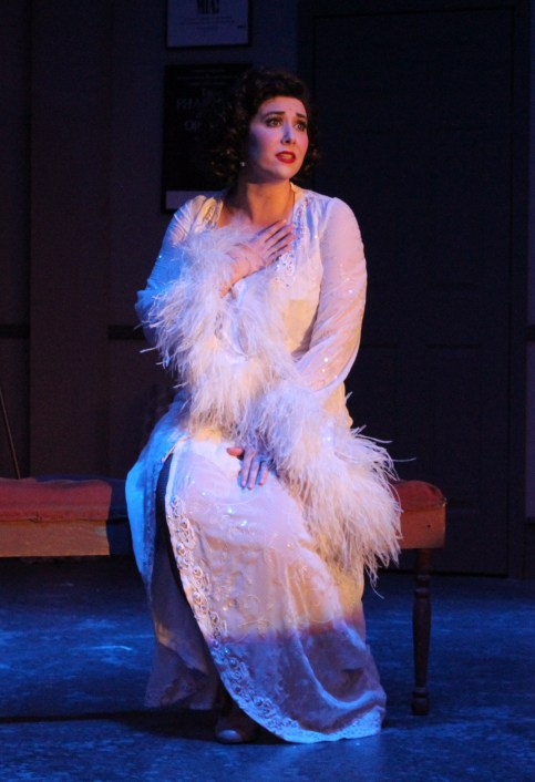 """Monkey business: Emily Pessano as Janet Van De Graaf in """"The Drowsy Chaperone."""" Photo / Good Company Players"""