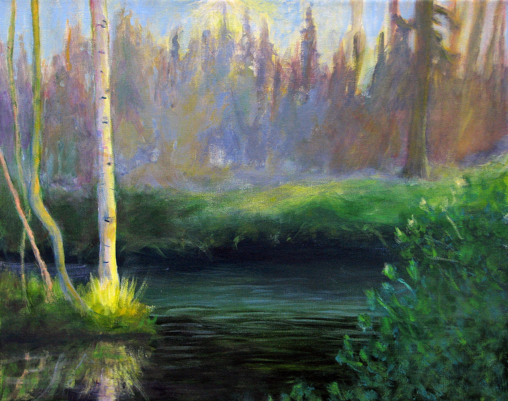 Summer light on Mammoth Creek