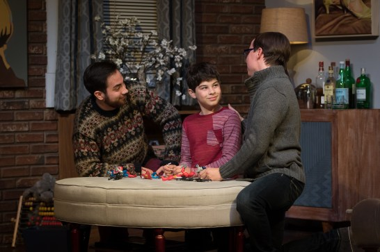 """Family unit: Will, Bud (Ari Jimesanagnos) and Cal in """"Mothers and Sons."""""""