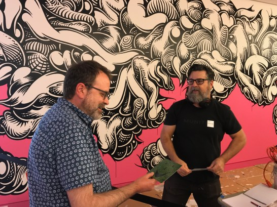 """Meeting the artist: On a recent trip to the Crocker, I chat with Mark Dean Veca about his installation piece """"The Maddest Hatter."""" Photo / The Munro Review"""
