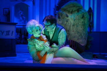 "Duet: Abigail Nolte, left, and Terry Lewis in ""Little Shop of Horrors."" Photo / StageWorks Fresno"