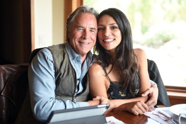 "Don Johnson and Miranda Rae Mayo in ""Blood & Oil."""