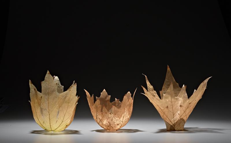 Sekimachi-3 leaf bowls
