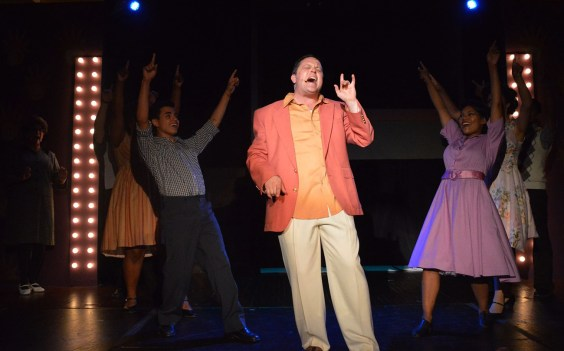 "Jonathan Wheeler plays Huey in ""Memphis."""