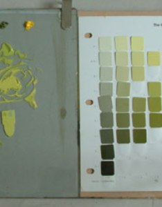 Oil paints mixed using munsell color chart also  system matching from rh