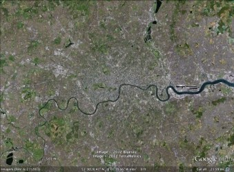 London, England aerial. From Google Earth.