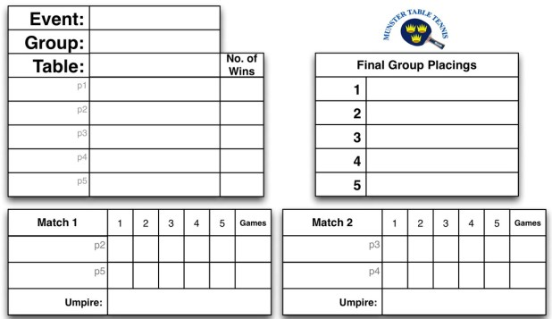 table tennis tournament template