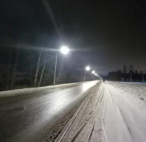 Существенно модернизировано наружное освещение на Пряжинском шоссе в городе Петрозаводске