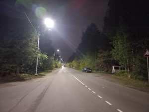 Выполнены работы по модернизации наружного освещения по улице Парковая