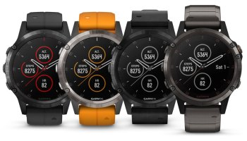A selection of Garmin Fenix 5 Plus fitness watches
