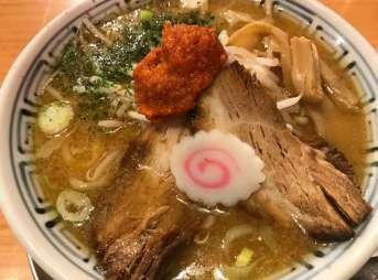 ちゃーしゅうや武蔵イオンモール浜松市野店のからし味噌らーめん