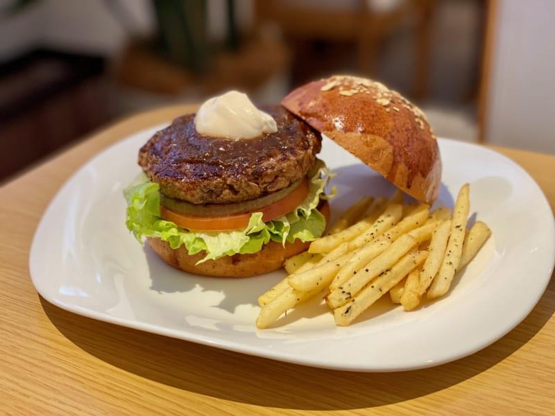 モリズバーガーのハンバーガー