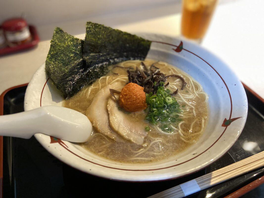 麺家 桜ざか_辛子明太子魚介白湯ラーメン