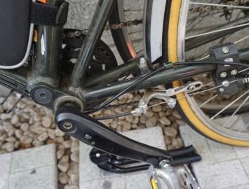 基本的には自転車下部に取り付ける