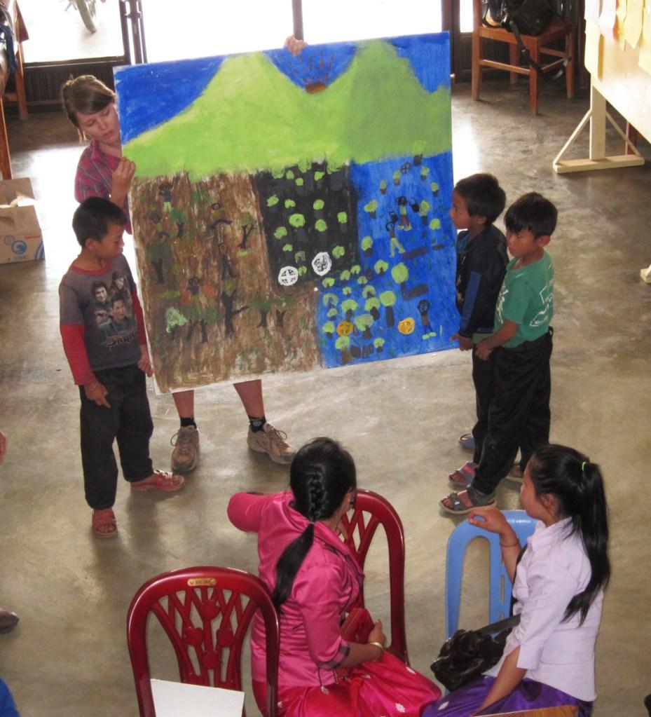 Mural #4 Uxo Education Xieng Khouang