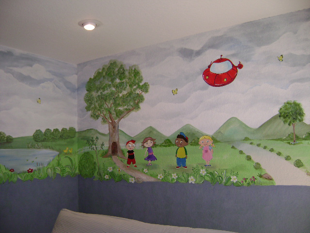 commercial chair rail electric faces of death little einsteins mural,mural, children's wall murals, paintings in miami, fort lauderdal,west ...