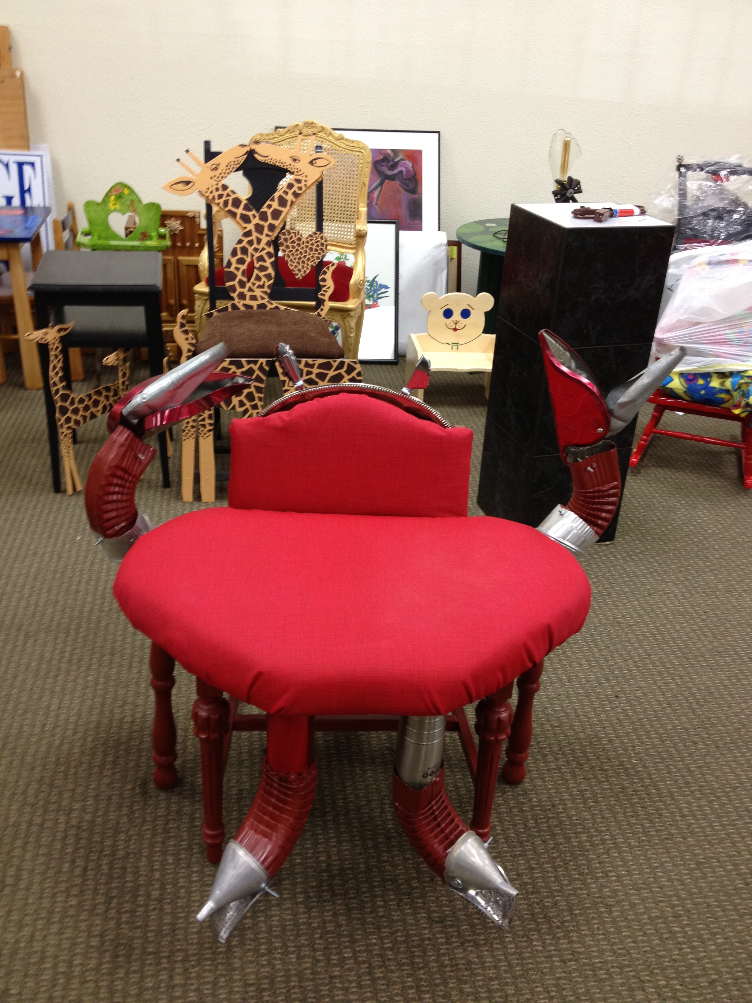 donate sofa to charity table turned desk murals by janet custom in portland and sw