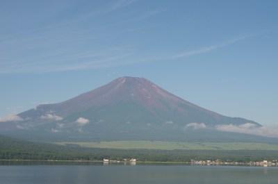 山中湖に映る逆さ富士